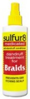 sulfur8 medicated anti-dandruff conditioner for Braids